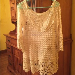 Cream Umgee lace top